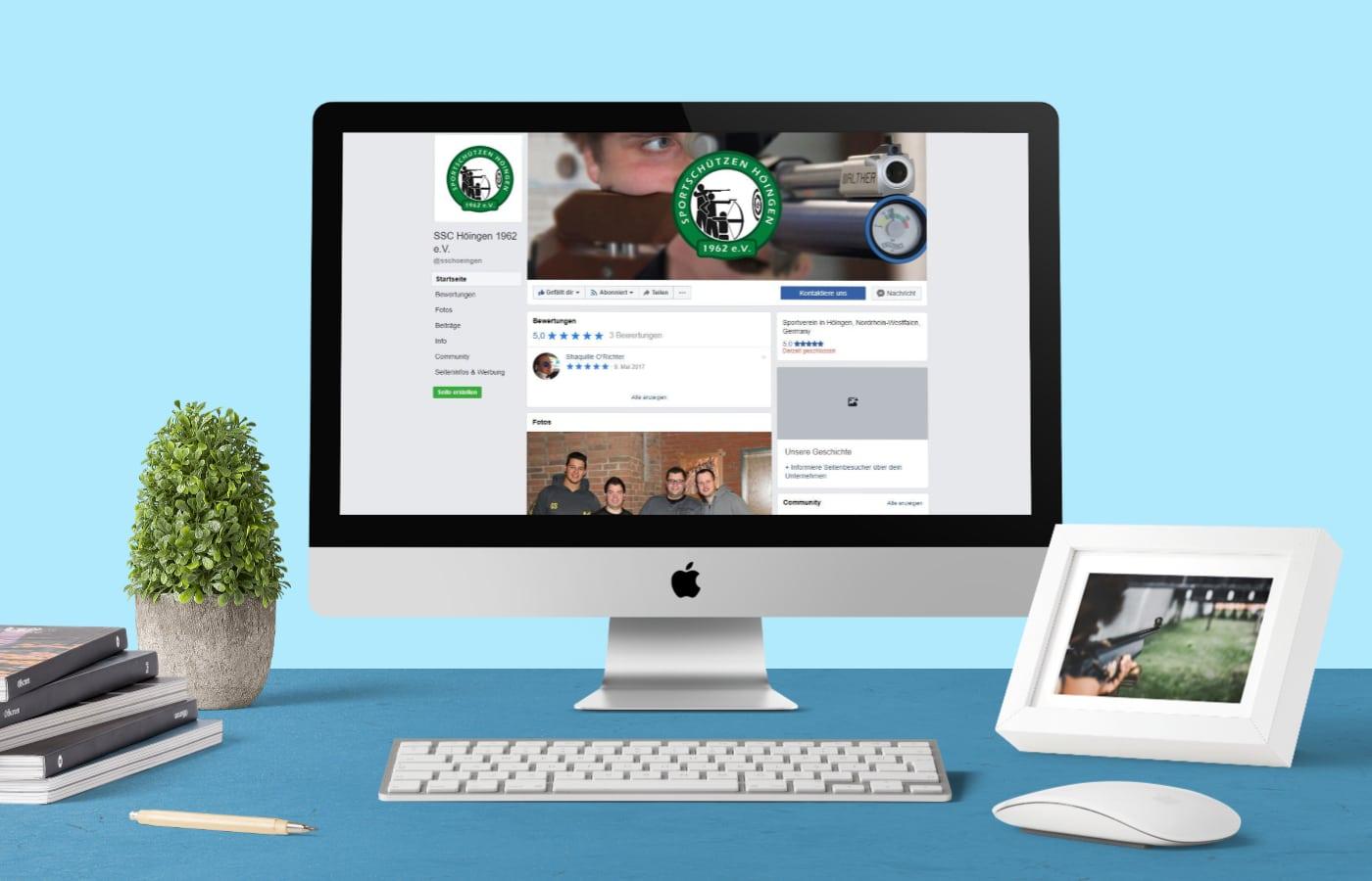 Facebook-Fanpage SSC Höingen e.V. – CR Mediendesign