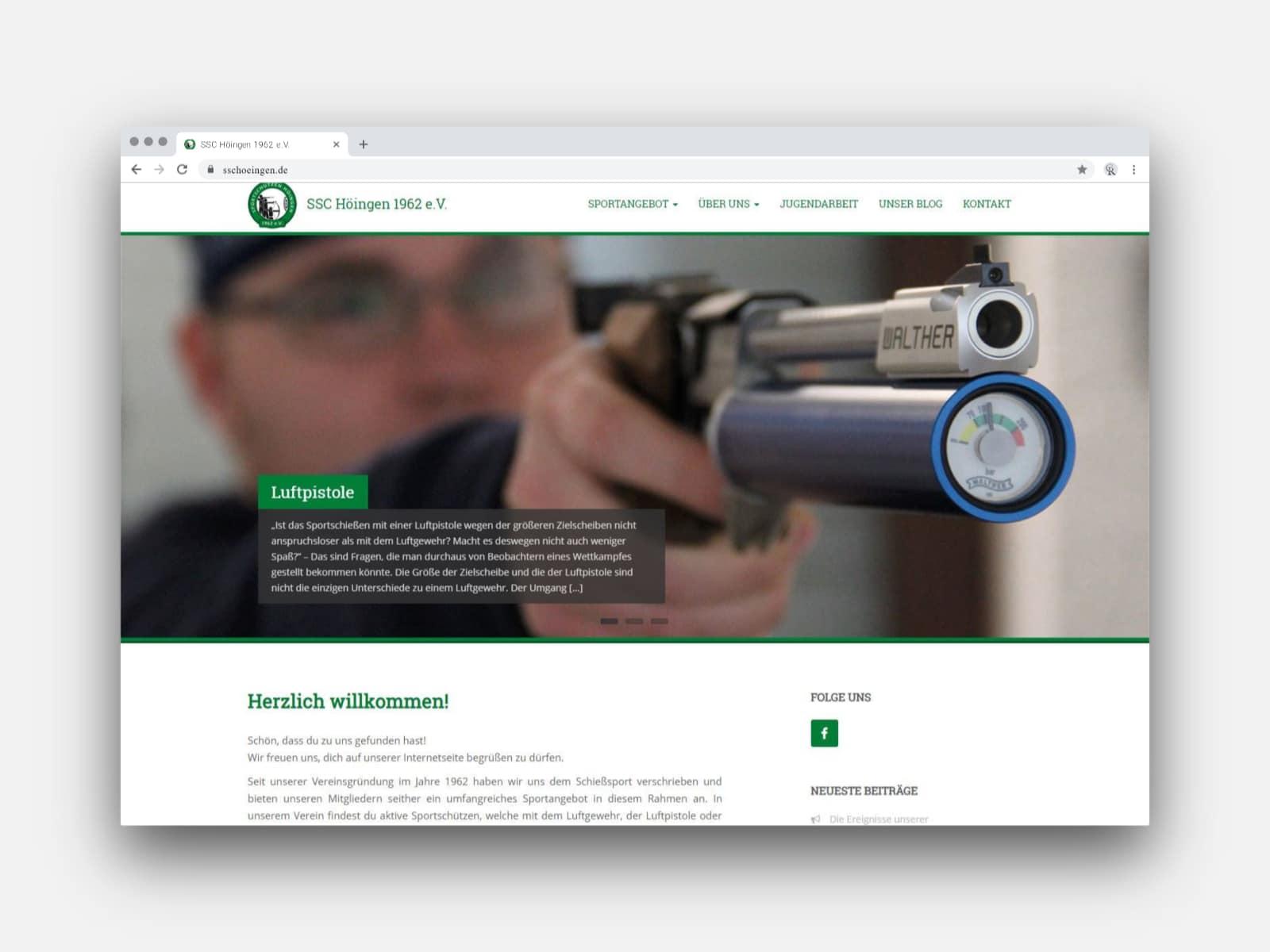 CR Mediendesign – Webseite des SSC Höingen 1962 e.V. – Webseite aus Münster