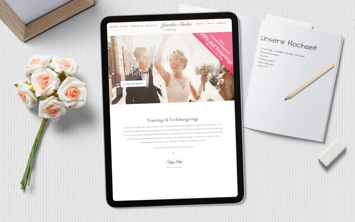 Webdesign Münster – Homepage Trauringe Juwelier Fischer aus Münster und Emsdetten